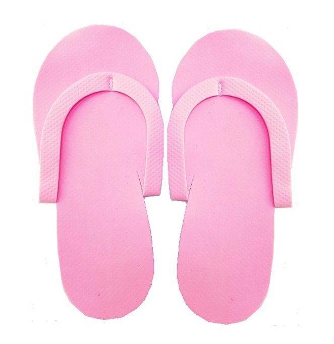 Eva Disposable Slippers Light Pink, 12pairs/pack