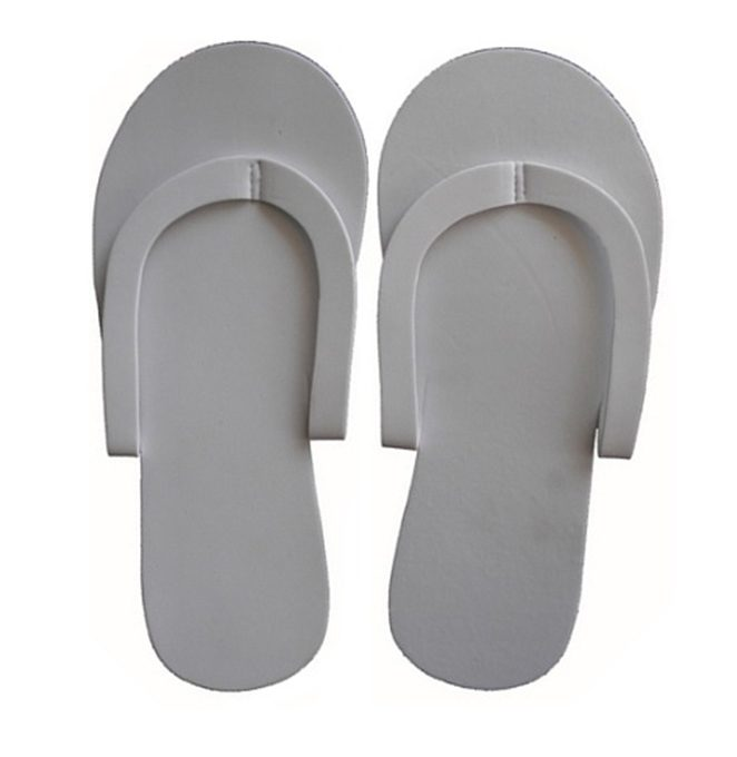 Eva Disposable Slippers White, 12pairs/pack