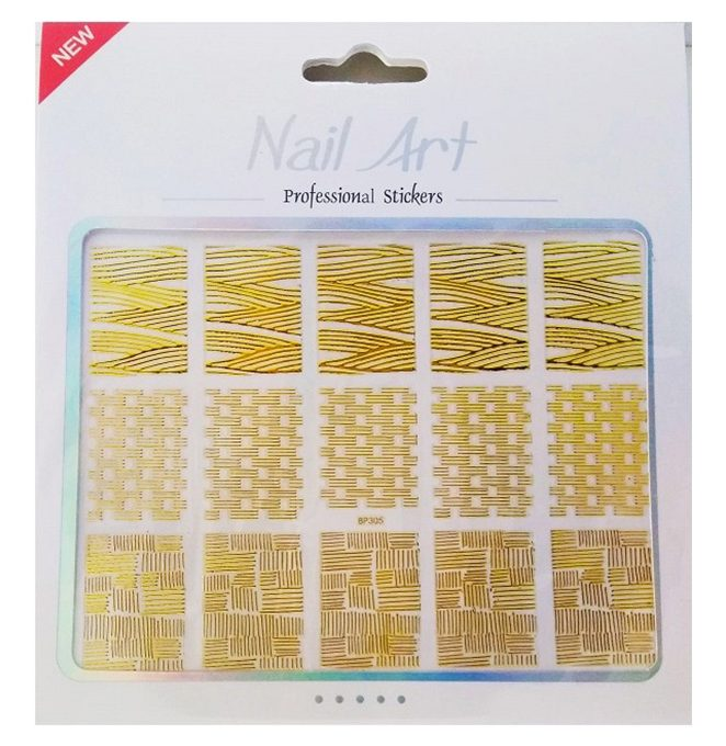 NGS9 Nail Sticker Gold