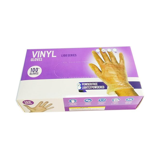 Bora Vinyl Gloves NP Medium, 100pcs/pack
