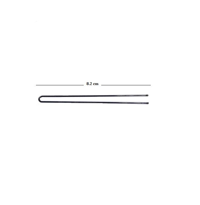 Straight Open Black Hair Pin 1