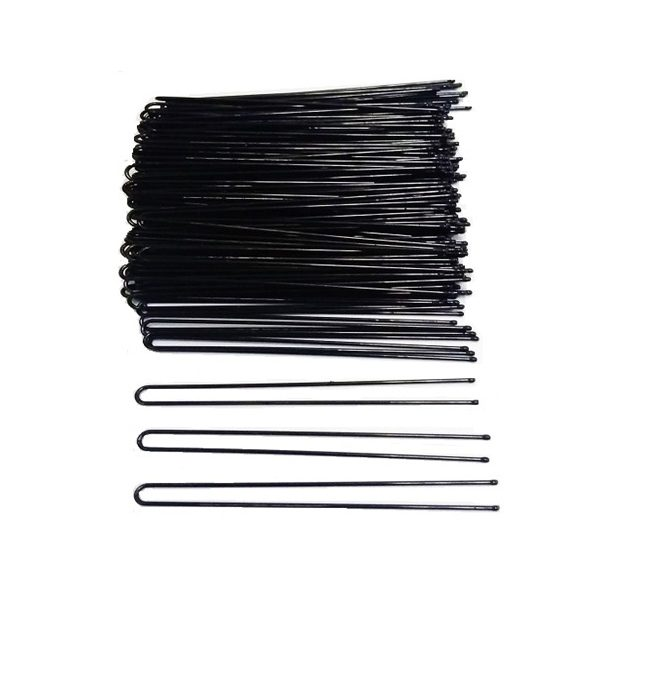 Straight Open Black Hair Pin